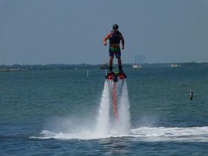 il flyboard in azione